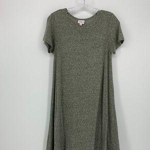 LulaRoe Olive Green Dress Size XS, Short Sleeve